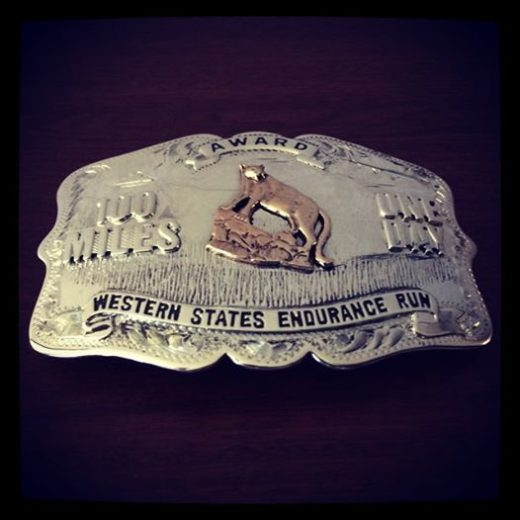 100 Miles One Day Silver Buckle