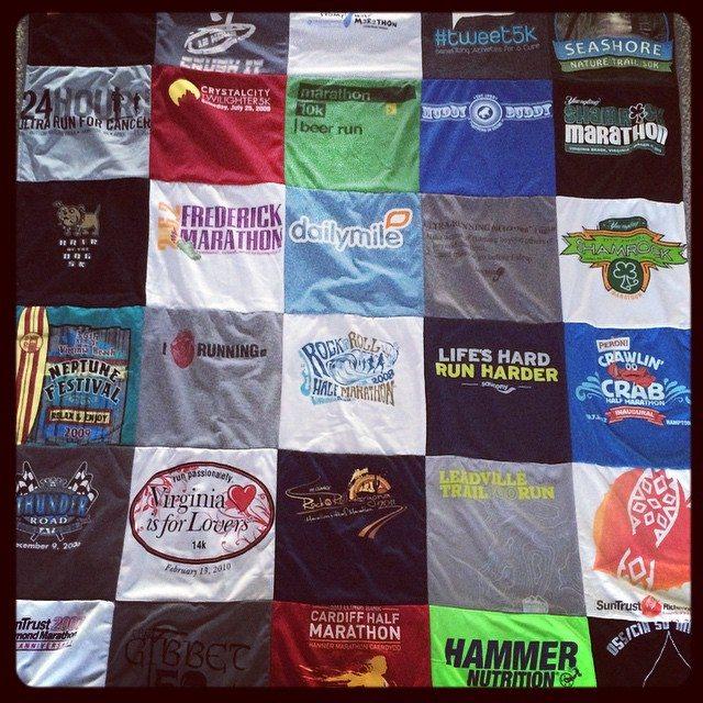 Project Repat Custom T-Shirt Quilt - Run Bulldog Run : running t shirt quilt - Adamdwight.com