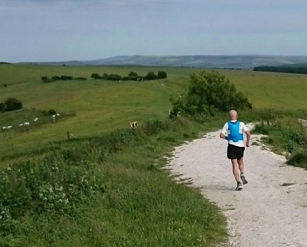 Leaving Ditchling Beacon